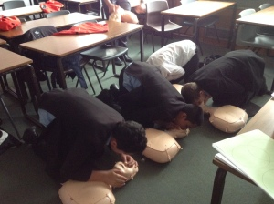 CPR training for middle boys 2